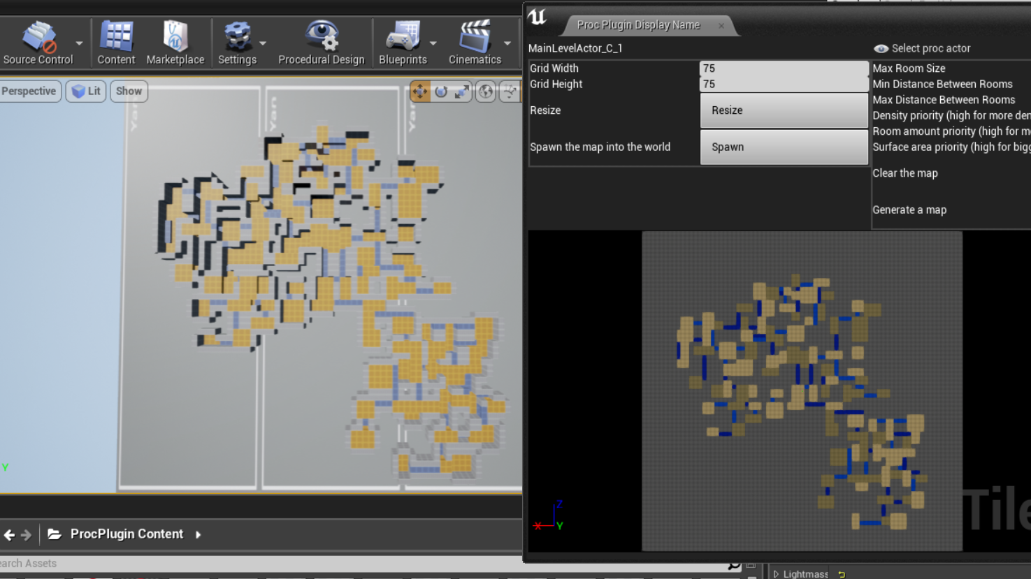 Unreal 4 Procedural Level Editor Plugin